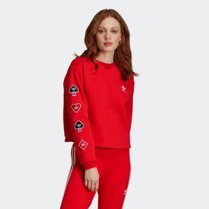 NWT Adidas Heart Sweatshirt